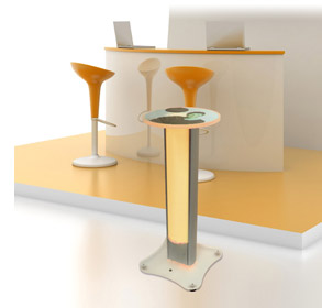 portable standing exhibition table